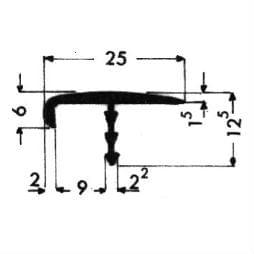 image-Fugendeckprofile mit Fuß - Art. 3011
