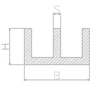 image-aluminum double duct profiles