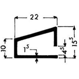 image-Profilés de blocage du verre Art. 3158