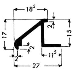 image-Profilés de blocage du verre Art. 3170