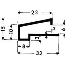 image-Profilés de blocage du verre Art. 3346