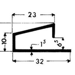 image-Profilés de blocage du verre Art. 3505