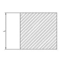 profili alluminio barre quadre